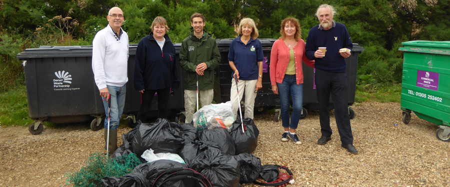 A great haul at the Abbotsbury Beach litter pick!