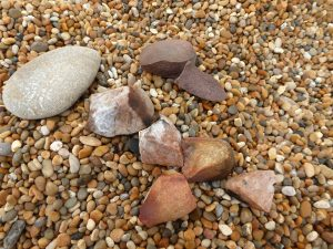 Fig 3: Shattered pebbles on Chesil. © Angela Thomas