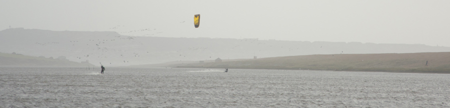 Kite surfers cause major disturbance on the Fleet