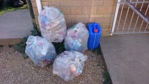 Bags of plastic bottles